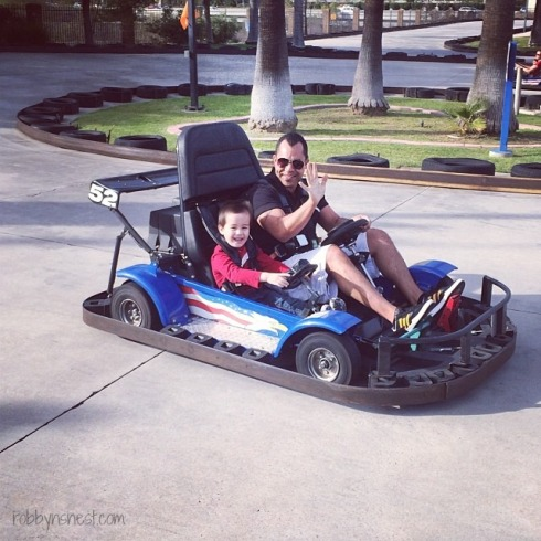 go-cart racing with Uncle Jerry